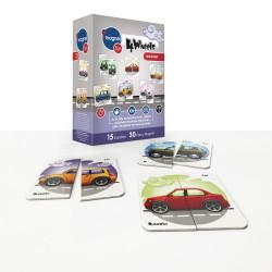 imagnetfun - 4 Wheels Magnet 15 Kart 30 Parça