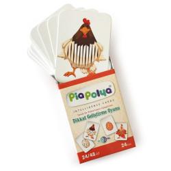 Pia Polya - Dikkat Geliştirme Oyunu Kartları